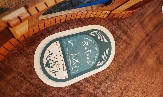 Etiquetas para instrumentos | Wyatt Wilkie,Luthier |Canadá