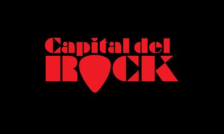Logotipo-Stencil para el proyecto Capital del Rock